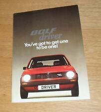 Volkswagen VW Golf Driver Mk1 Brochure 1980