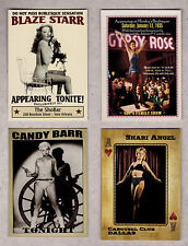 Lot of 4 famous strippers: Blaze Starr, Candy Barr, Shari Angel & Gypsy Rose Lee