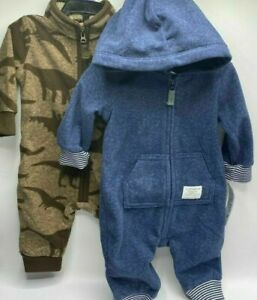 Boy's 6 Months (12.5-17lbs)  2-Pack Adorable Carter's Dinosaur Jumpers Outfits