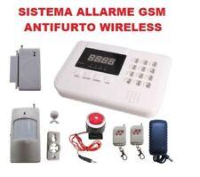 KIT ALLARME CASA UFFICIO NEGOZIO WIRELESS SENZA FILI GSM COMBINATORE ANTIVANDALO
