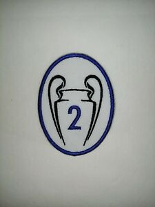 CHELSEA - CHAMPIONS  LEAGUE TIMES 2 TROPHY PATCH  Iron on/sew on patch