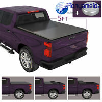 5FT BED SOFT TRI-FOLD TONNEAU COVER FOR 2020 JEEP GLADIATOR JT TRUCK VINYL