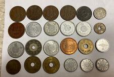 Lot 24 Japan China Cash Coins 1 5 10 50 Sen Yen