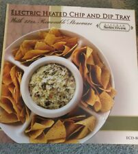 Kitchen Selectives Electric Heated Chip And Dip Tray - New Open Box