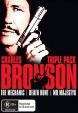 The Mechanic / Death Hunt / Mr. Majestik = NEW Region 4 DVD = Charles Bronson
