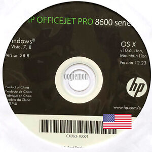 Setup CD ROM for HP OFFICEJET PRO 8600 Series Software for Windows and macOS