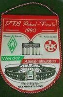 *RAR* Wimpel SV Werder Bremen 1.FC Kaiserslautern DFB Pokal Finale 1990 SVW FCK