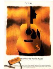 "1999 VINTAGE Print Ad DEAN MARKLEY GUITAR STRINGS ""CLOSURE"" buddha in details"