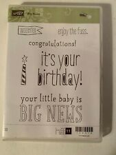 "Brand New Stampin Up ""Big News"" - Rubber Mount Stamp Set"