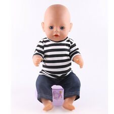 school 1set Doll Clothes Wearfor 43cm Baby Born zapf (only sell clothes ) n171