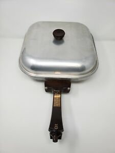 Vintage Electric Fry Pan with Cover Model 116 12 Inches