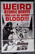 The Horror of Beach Party 1sh Movie Poster JOHN SCOTT Marilyn Clarke LYON 1964