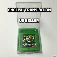 Pokemon Green Version (US SELLER) Gameboy English Translated GBC Game Boy