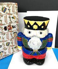 BLOCK WHIMSY CHRISTMAS NUTCRACKER FIGURINE COOKIE JAR MTK2886 HAND PAINTED NEW