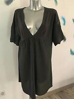 robe viscose marron MC PLANETE taille 44 fr usa 12 NEUVE ÉTIQUETTE