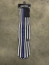 New listing New! Thin Blue Line Us American Flag Police Pride Socks Men Fits Sizes 7-13 Gift