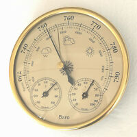 Weather Station Barometer Thermometer Hygrometer Clock Style New