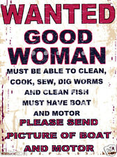 WANTED GOOD WOMEN 8x10in pub bar shop cafe man cave diner shop funny man cave
