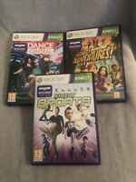 3 Xbox 360 Kinect Games Bundle Kinect Sports, Kinect Adventures! & Dance Central