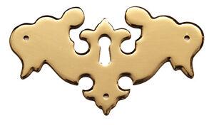"3.5"" Antique Style Solid Brass Escutcheon 1608P/C"
