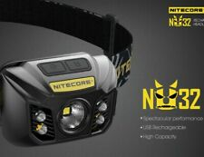 NITECORE NU32 550LM LED Rechargeable Headlamp Flashlight White & Red Beams Torch