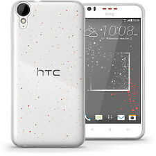 Clear TPU Gel Jelly Case Cover For HTC Desire 825 Free Screen Protector