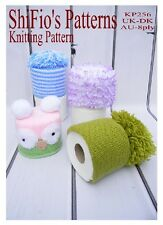 KNITTING PATTERN for TOILET ROLL COVERS TOPPERS OWL LACE #256 by ShiFio Patterns
