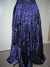 navy dark blue gypsy custom made velvet skirt10 12 14 16 18 20 22 24 26 28 30 32