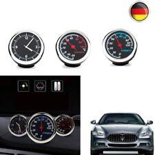 Mini Auto Uhr Thermometer φ4cm Automechaniker Kfz Zeitanzeige Autouhr Innen Deko