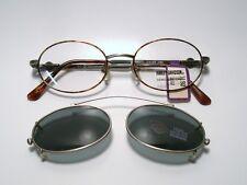 New Mens Metal Eyeglasses Harley-Davidson 98 w/ Clip on Sunglass DA/AS 46-17-130