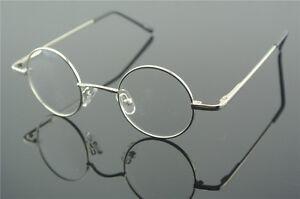 Vintage Round Eyeglass Frames Silver Glasses RX Eyeglasses Clear Lens