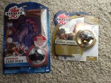 BAKUGAN Lot Bronze Attack Dragonoid New Vestroia & Deka Darkus RETIRED