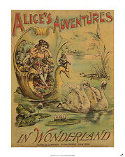 ALICE'S ADVENTURES IN WONDERLAND POSTER of Book Cover (A1 size)