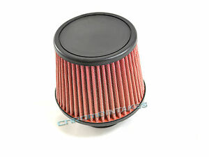 "RED 2009 UNIVERSAL 76mm 3"" FLAT TOP AIR INTAKE FILTER"