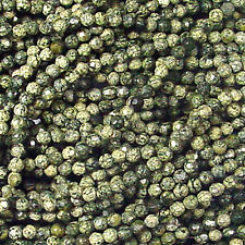 4MM RUSSIAN JADE FACETED ROUND GEMSTONE BEADS  16""