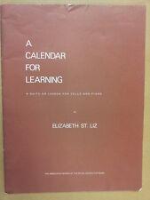 Cello un calendario para el aprendizaje de Elizabeth St. Liz