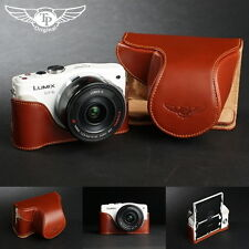 Handmade Genuine real Leather Full Camera Case bag Panasonic GF6 X 14-42 Lens