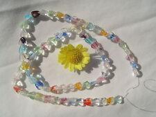 "6mm Art Glass Glow In The Dark Heart Beads 15""strand"