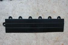 Speedway Garage Tile Mfg. Interlocking Ramp Edges WITH LOOPS (Female)  Black