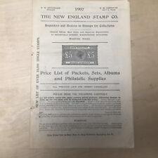 Vtg 1907 New England Stamp Co. Catalog Stamps Philatelic Supplies Original