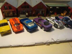 6 Corvettes Hot Wheel Matchbox Superfast Grand Sport, Stingray Die Cast toy cars