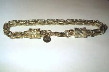 """Gold Plated Solid Sterling Silver Byzantine Rope Bracelet 6mm by 8"""""""