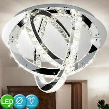 Luxus LED Kristall Decken Leuchte Lüster Wohn-Ess-Zimmer Beleuchtung Chrom Lampe