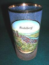 Souvenier Andenken Glas Heidelberg Email handkoloriert