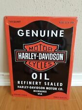 METAL DECOR* HARLEY DAVIDSON HD MOTOR OIL PLAQUE shop bike motorcycle hat cap
