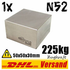 Neodymium Magnet 50x50x30mm 5x5x3cm 225kg N52 Strong Super Permanent Block