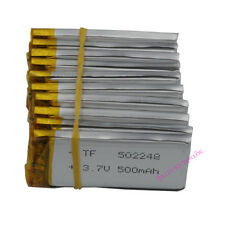 10 PEZZI 3.7V 500mAh POLIMERI LI batteria LiPo per cuffie Bluetooth GPS Penna 502248