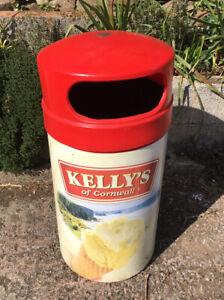 Waste Bin Kellys of Cornwall ice creamDust Bin Man Cave Refuse Bin