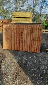 Vertical Close Board Feather Edge Fence Panels 6ft X 4ft
