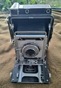Graflex Crown Graphic 4x5 Camera w/ 127mm f4.7 Kodak Ektar Lens